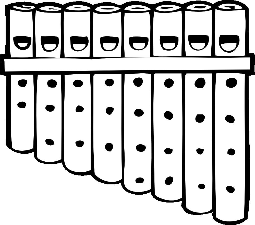 clipartist.net » Clip Art » pan pipes black white musical.