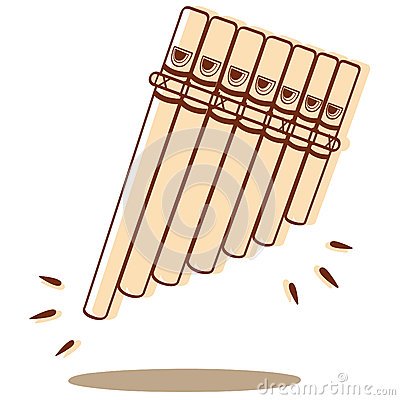 Pan Flute Vector Stock Photography.
