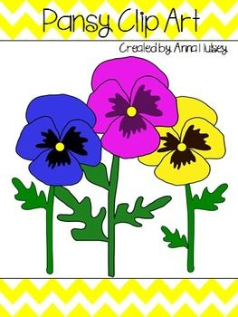 Pansy Clip Art (Graphics for Commercial Use).