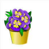 Pansies Clipart and Stock Illustrations. 323 pansies vector EPS.