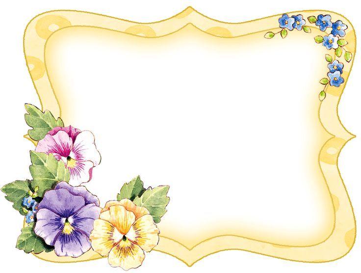 Pansy Flower Corner Border Clip Art.