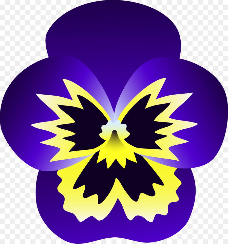 Viola pedunculata Pansy Purple Clip art.