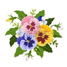 Image result for johnny jump up flower clip art.