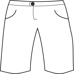 Clip Art Black And White Short Pants Clipart.