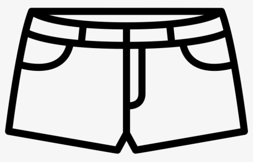 Free Shorts Black And White Clip Art with No Background.