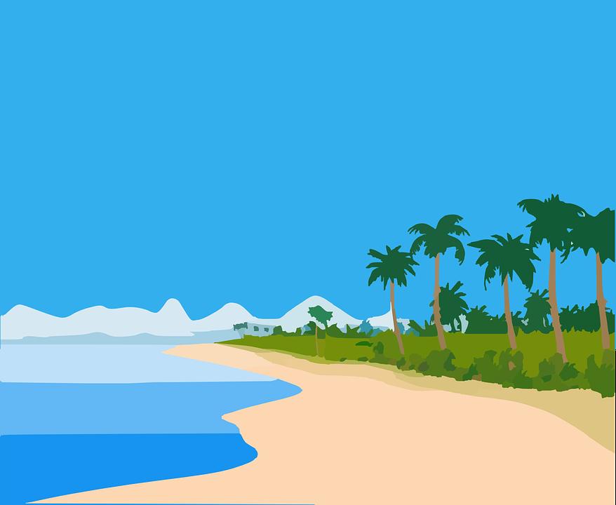 Beach island clipart.