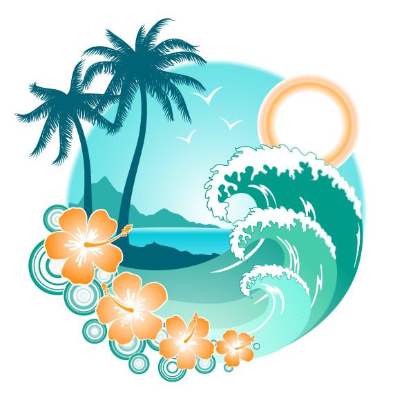 8 Tropic Islands Vectors Free Vector / 4Vector.