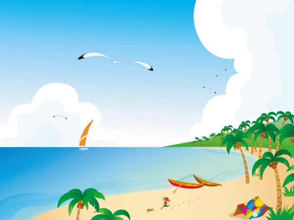 Tropical Beach Clip Art Free Clipart Ball 2