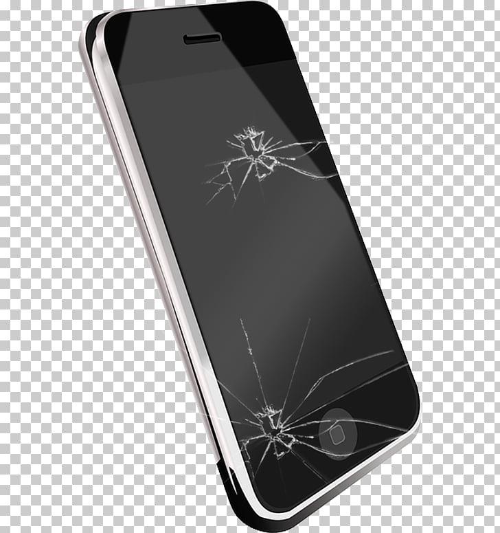 Iphone 4s llamada de vibración, pantalla rota, teléfono.