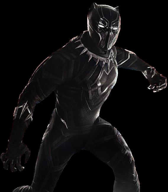 PNG Pantera Negra (Black Panther, Civil War).