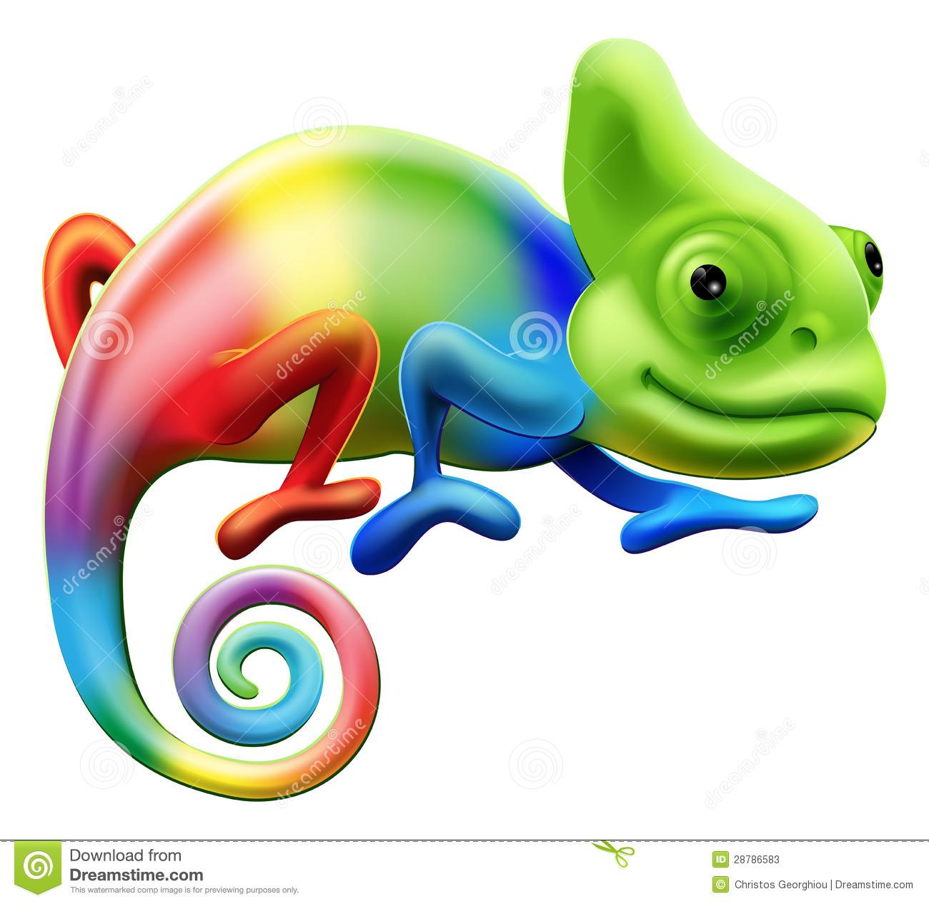 Chameleon Stock Illustrations.