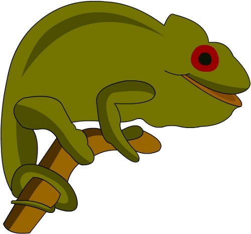 Chameleon Clipart : 6.