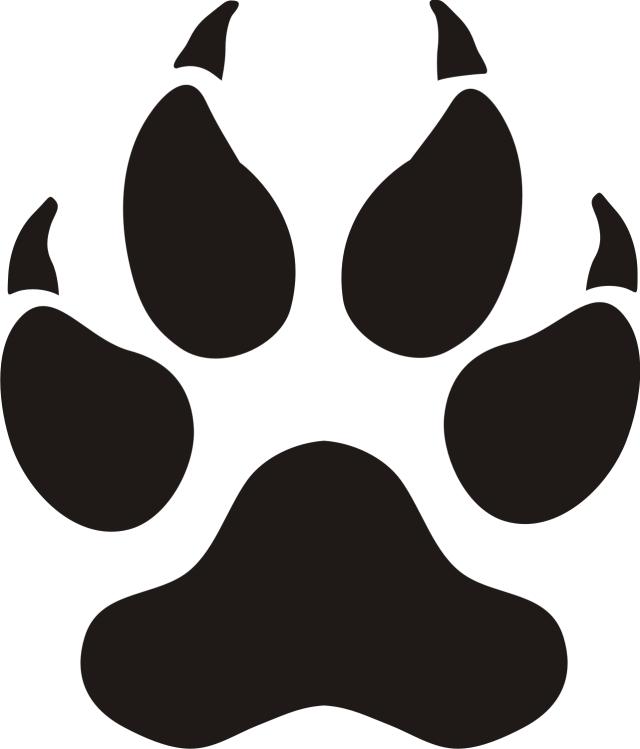 Panther Paw Prints Clip Art.