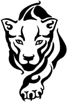 Panther Face Clipart.