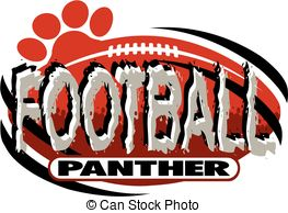 Vector Clip Art of panther football team design with panther.