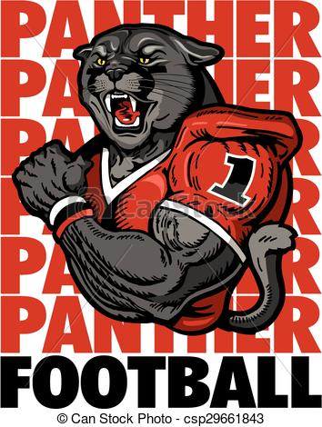 Vectors Illustration of panther football team design with black.