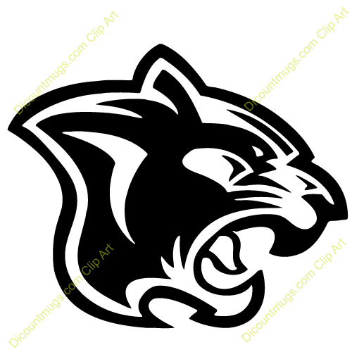 Panther Head Side Clip Art.