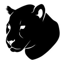 Panther Head Silhouette clipart.