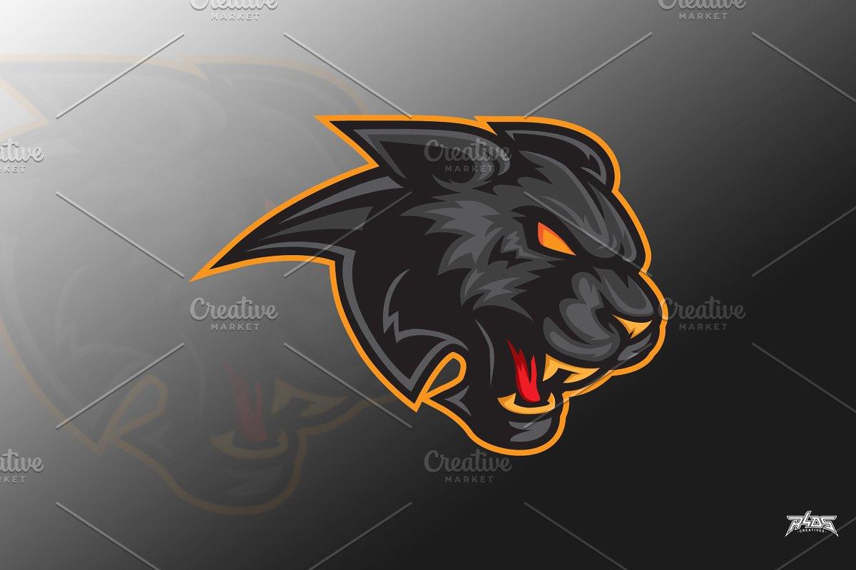 Black Panther Head Vector Logo Masco.