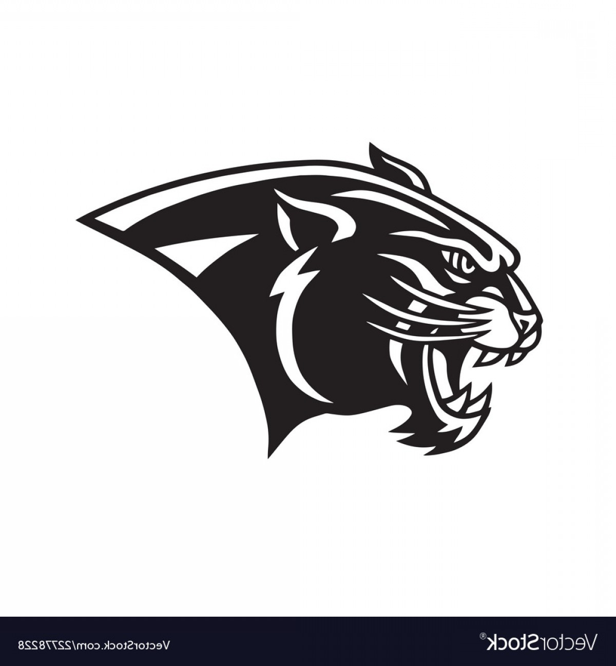 Panther Head Logo Vector.