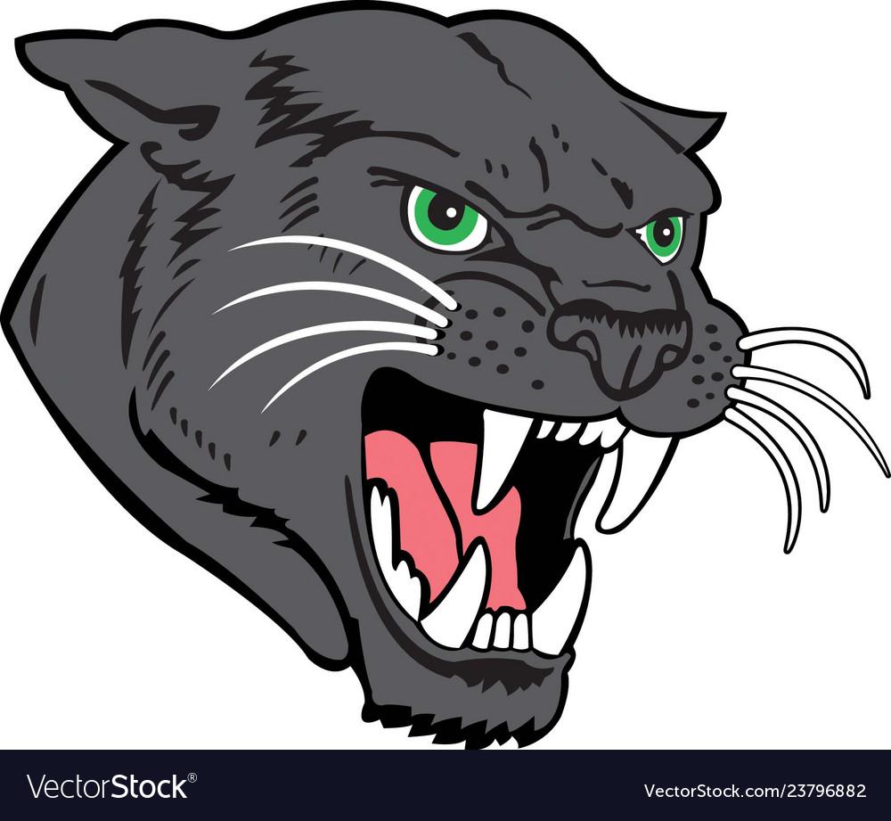 Panther head logo mascot.