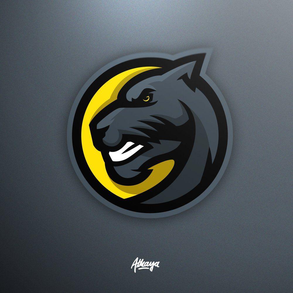 Panther mascot logo.
