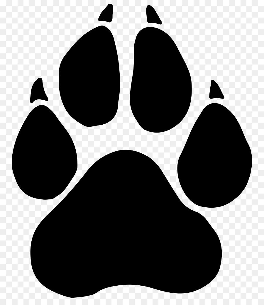 Black Panther Paw Dog Clip Art.