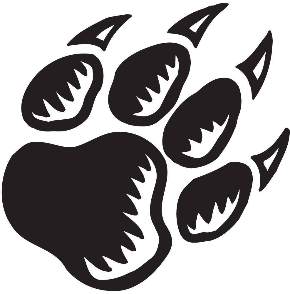 Black Panther Paw Print Clip Art free image.
