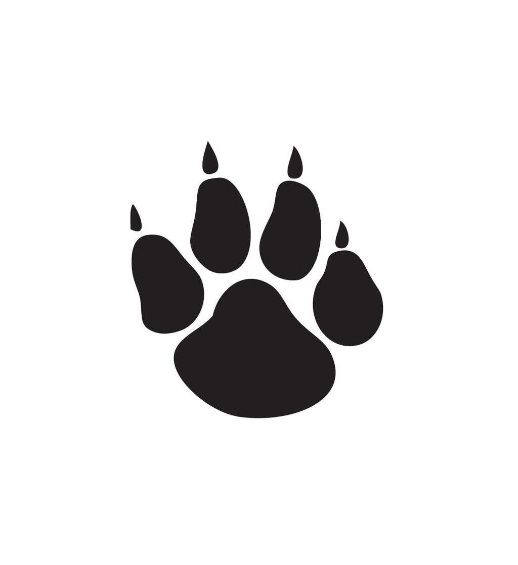 Simple Paw Print Clipart Dtekeat Panther.