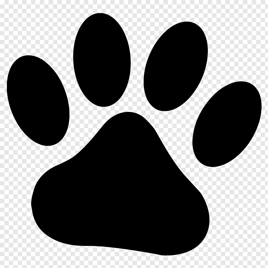 Dog Paw Cougar Drawing, paw prints free png.