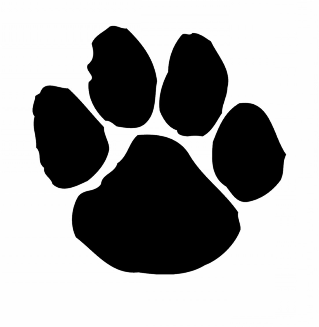 Hiiitmtsouthside Panthers Tiger Paw Print Clipart.