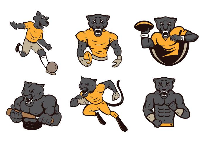 Free Panthers Mascot Vector.