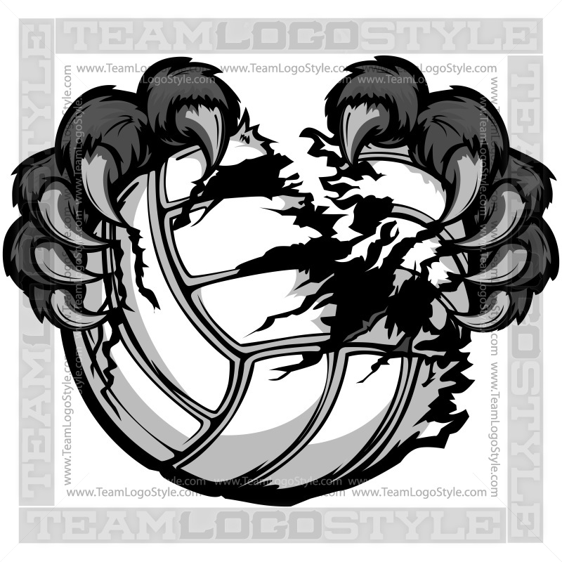Panther volleyball clipart.