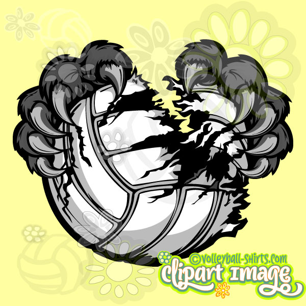 Panther Claws Ripping Volleyball.