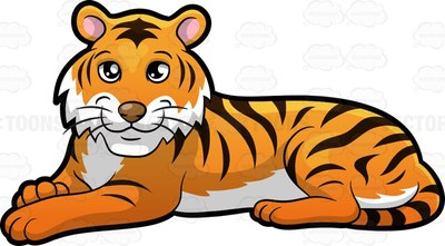 Panthera tigris Cartoon Clipart.