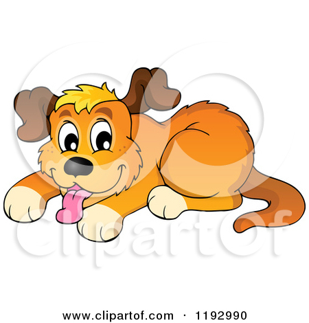 Cartoon of a Happy Dog Panting.