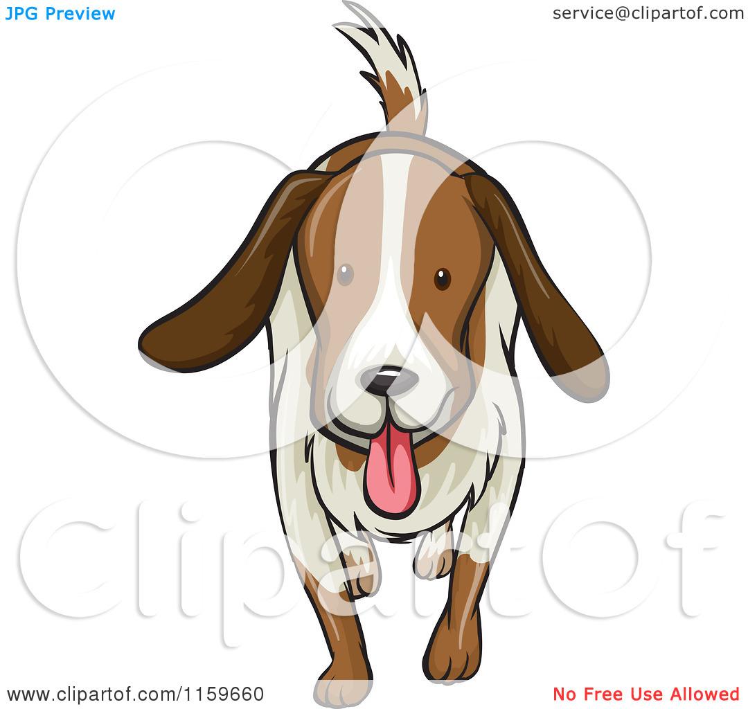 Panting dog clipart.