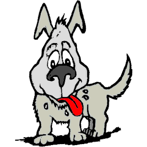 Dog Panting Clipart.