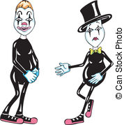 Vector Clipart of Pantomime.
