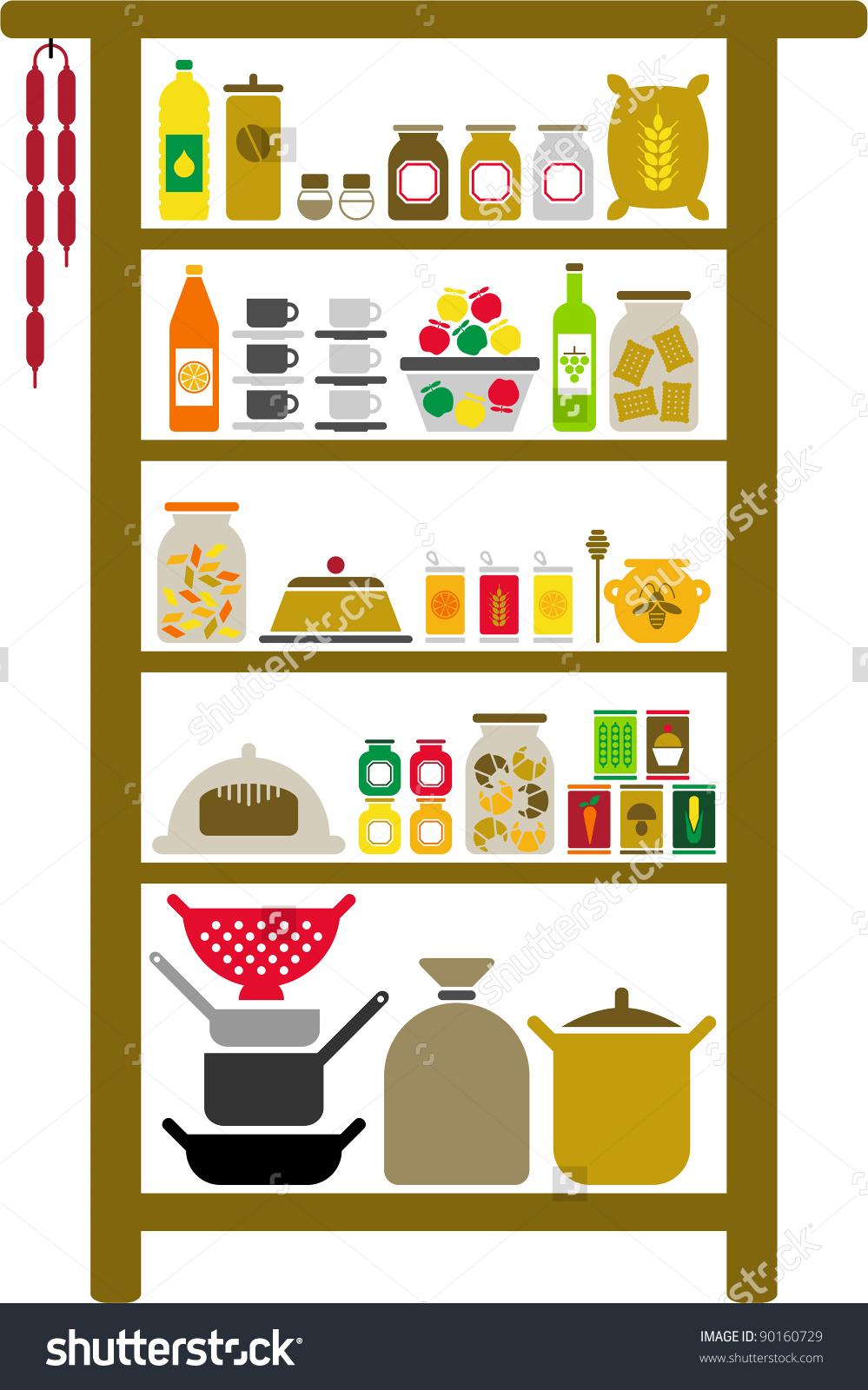 Food pantry clip art