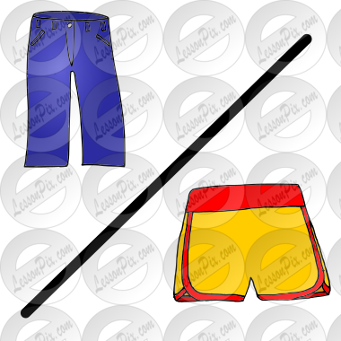 Pants + Shorts Picture for Classroom / Therapy Use.