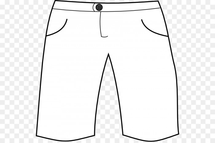 Pants Clipart Black And White Vector, Clipart, PSD.