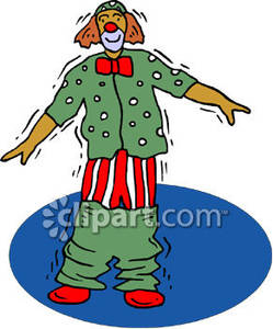 Circus Clown with His Pants Down.