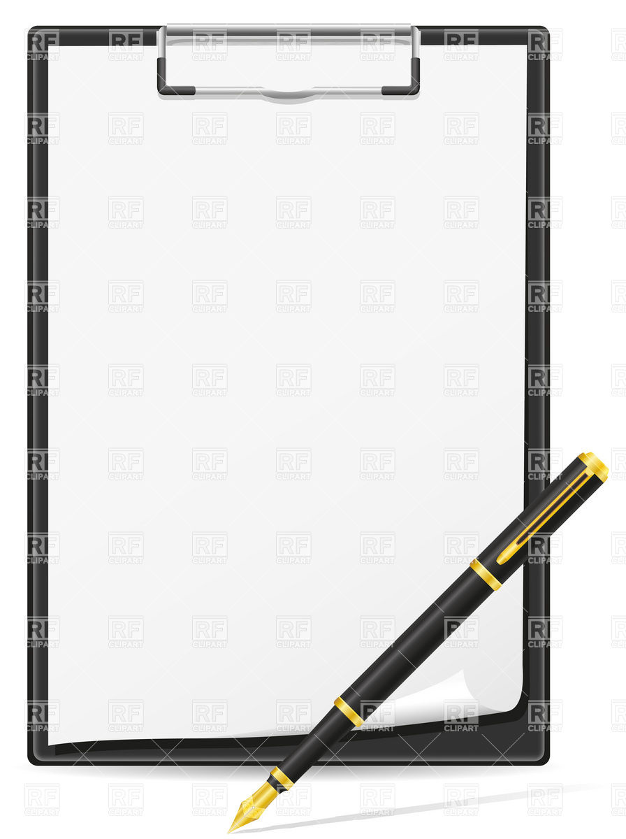 Pen And Clipboard Clipart.
