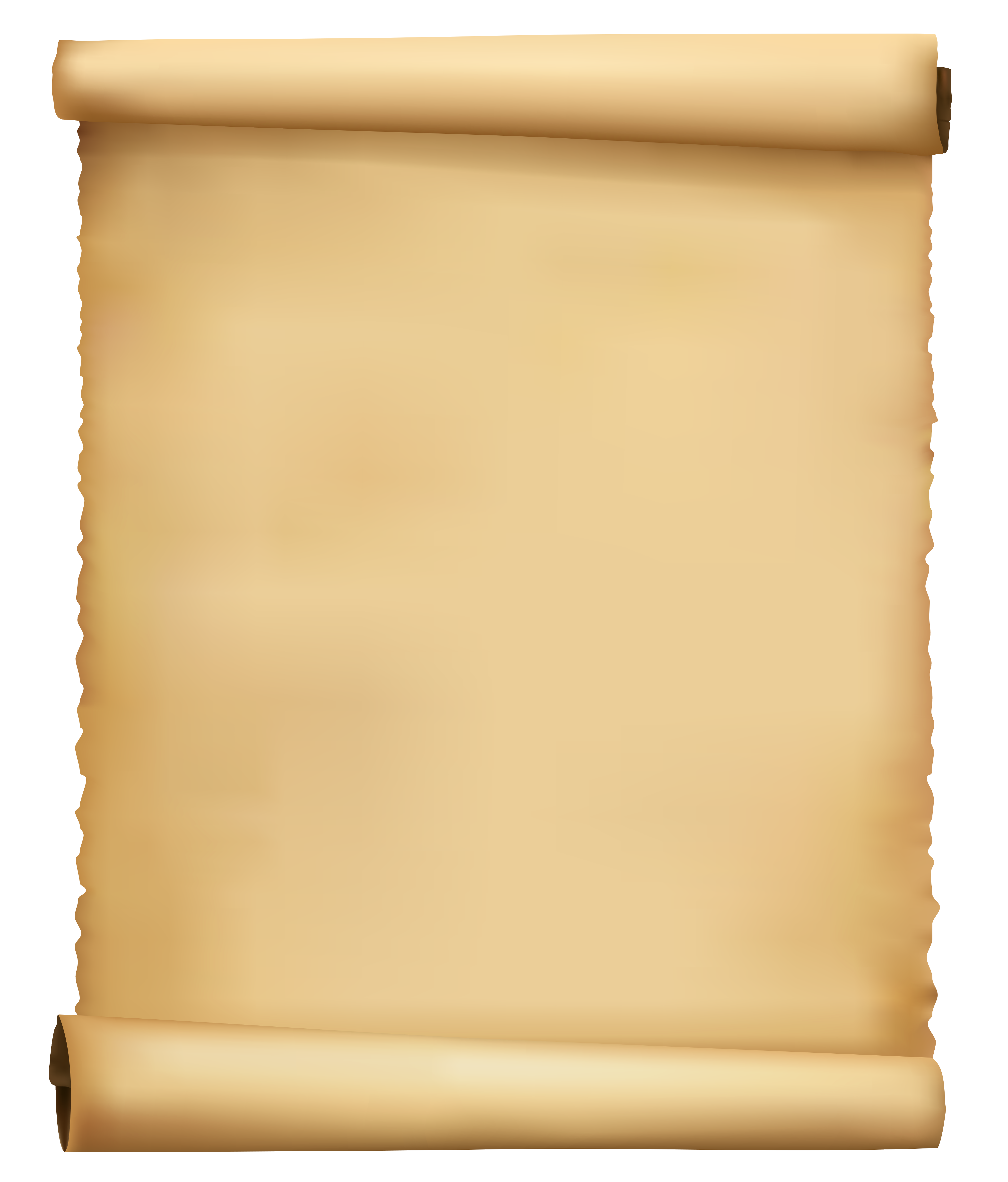 Scrolled Ancient Paper PNG Clipart Image.