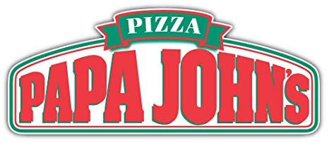 Amazon.com: Papa Johns Logo Sticker Car Bumper Decal 6\'\' X 3.
