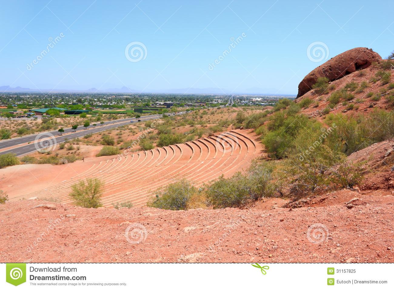 Amphitheater At Papago, AZ Royalty Free Stock Images.