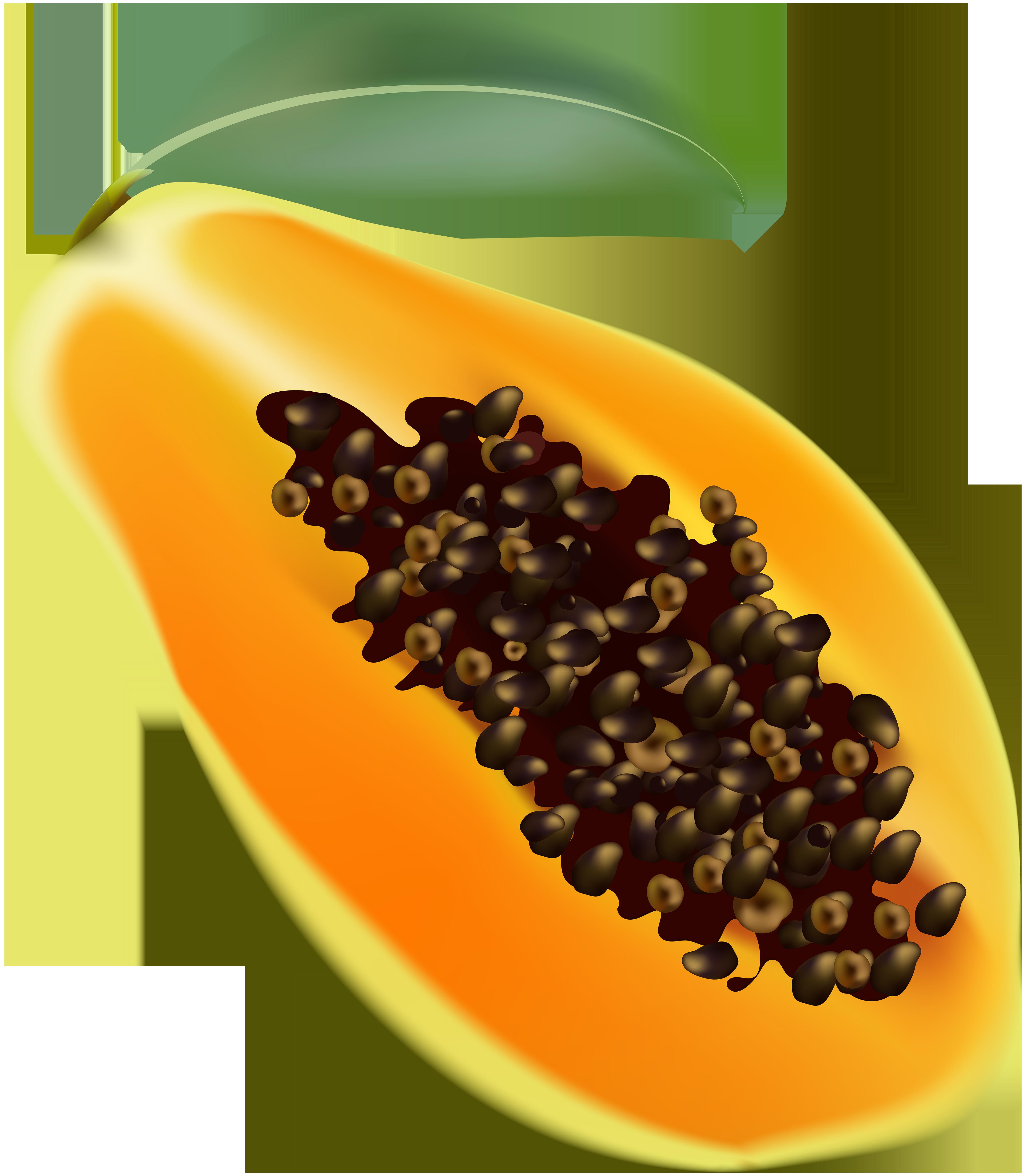 Papaya Transparent Clip Art Image.