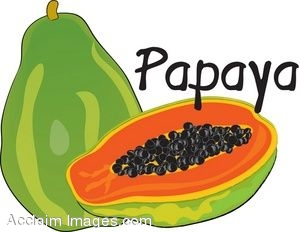 Clip Art of a Papaya.