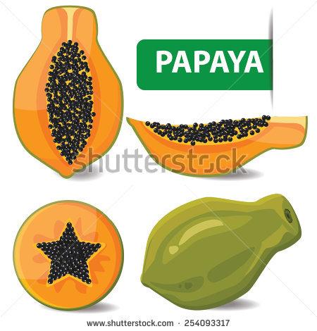 """""""papaya Pieces"""" Stock Photos, Royalty."""